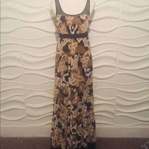Studio Y size 7 Sheer/slip maxi Dress